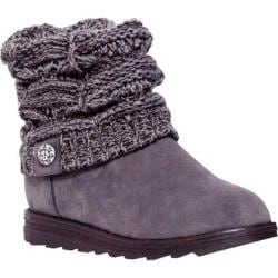 Women's MUK LUKS Patti Cable Cuff Boot Grey