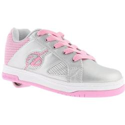 Girls' Heelys Split Silver/Pink