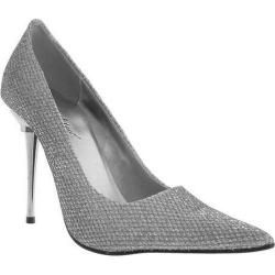 Women's Highest Heel Glitzee Silver Glitter