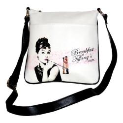Women's Audrey Breakfast at Tiffany's Messenger Bag AH811 Black