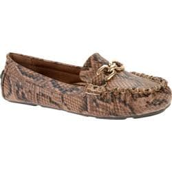 Women's Annie Delighted Brown Python PU