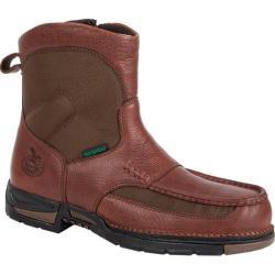 Men's Georgia Boot G074 7in Athens Waterproof Pull On Brown Full Grain Leather/Nylon