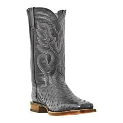Men's Dan Post Boots Chandler DP2980 Black Full Quill Ostrich