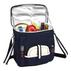 Picnic at Ascot Wine and Cheese Cooler Navy/White