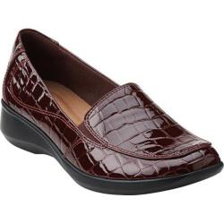 Women's Clarks Gael Angora Burgundy Synthetic Croco
