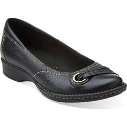 Women's Clarks Recent Drive Black Leather