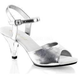 Women's Fabulicious Belle 309 Silver Metallic Polyurethane/Clear