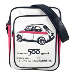 Fiat 500 Eco-leather Shoulder Bag White