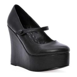 Women's Ellie Wedge-475 Black