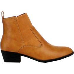 Women's Beston Chelsea-01 Camel Faux Leather