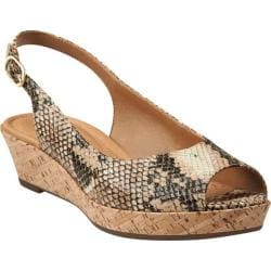 Women's Clarks Orlena Currant Beige Synthetic Snake