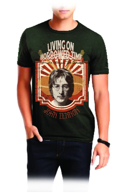 John Lennon Men's Black T-shirt