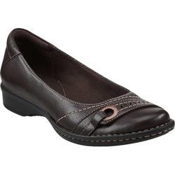 Women's Clarks Recent Dutchess Dark Brown Leather