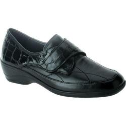 Women's Spring Step Jaye II Black Leather/Crocodile
