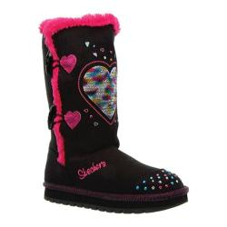 Girls' Skechers Twinkle Toes Keepsakes Heart Warmer Black/Pink