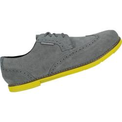 Men's TRUE Linkswear TRUE Gent Wingtip Charcoal/Highlighter Suede