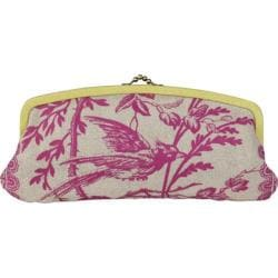 Women's Amy Butler Leather Cameo Clutch Raspberry