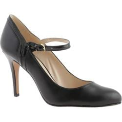 Women's Nine West Garrie Black/Black Leather