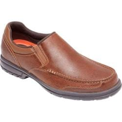 Men's Rockport Into The Weekend Moc Slip On Tan Pebbled Leather