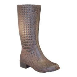 Women's Burnetie Gator Boots Chocolate