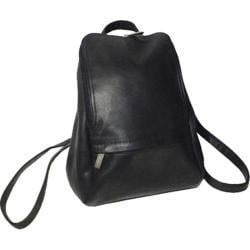 Royce Leather Vaquetta 10in Adjustable Backpack Black