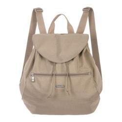 Women's baggallini CIN775 Cinch Backpack Khaki/Caspian Blue