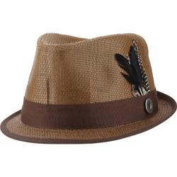 Men's Ben Sherman Straw Trilby Dark Brown