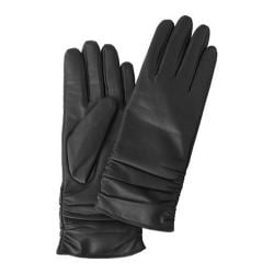 Women's Betmar Rouched Leather Glove Black