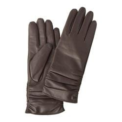 Women's Betmar Rouched Leather Glove Chocolate