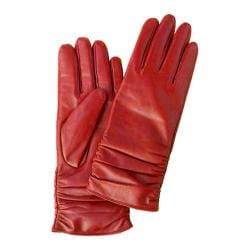 Women's Betmar Rouched Leather Glove Red