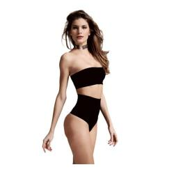 Women's Cass Luxury Shapewear Contour Thong Black