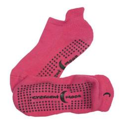 Women's Crescent Moon Yoga ExerSock (3 Pairs) Hot Pink/Black