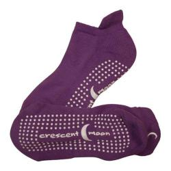 Women's Crescent Moon Yoga ExerSock (3 Pairs) Purple/White
