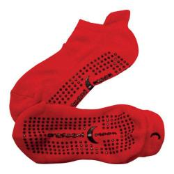 Women's Crescent Moon Yoga ExerSock (3 Pairs) Red/Black