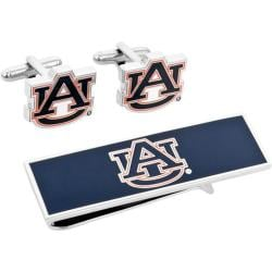 Men's Cufflinks Inc Auburn University Tigers Cufflinks/Money Clip Set Blue 14536337