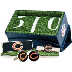 Men's Cufflinks Inc Chicago Bears 3-Piece Gift Set Navy/Orange 14536454