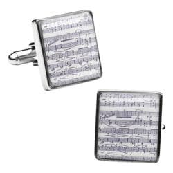 Men's Cufflinks Inc Classical Sheet Music Cufflinks White