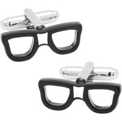 Men's Cufflinks Inc Cool Cut Taped Glasses Cufflinks Black