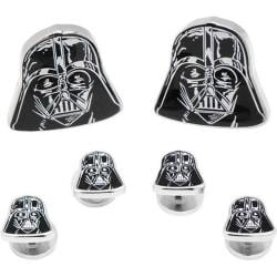 Men's Cufflinks Inc Darth Vader Head Stud Set Black 14536558