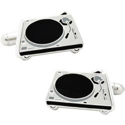 Men's Cufflinks Inc DJ Turntable Cufflinks Black/White