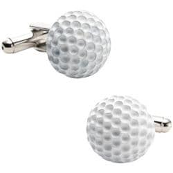 Men's Cufflinks Inc Enamel Golf Ball Cufflinks Silver