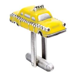Men's Cufflinks Inc Enamel Taxi Cab Cufflinks Yellow