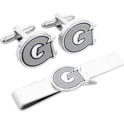 Men's Cufflinks Inc Georgetown University Hoyas Cufflink/Tie Bar Set Grey