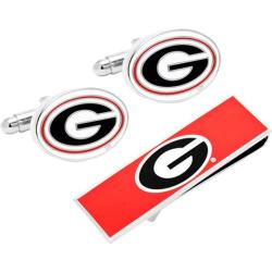 Men's Cufflinks Inc Georgia Bulldogs Cufflinks and Money Clip Gift Set Red 14536691