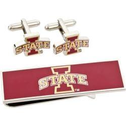 Men's Cufflinks Inc Iowa State Cyclones Cufflink/Money Clip Gift Set Red 14536820