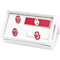 Men's Cufflinks Inc Oklahoma University Sooners 3-Piece Gift Set Red 14537083