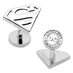 Men's Cufflinks Inc Silver Superman Shield Cufflinks Silver