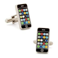 Men's Cufflinks Inc Smart Phone Black/Multi Color