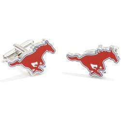 Men's Cufflinks Inc SMU Mustangs Red/White