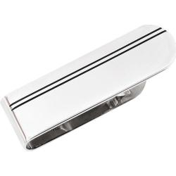 Men's Cufflinks Inc Stainless Steel Double Stripe Money Clip Silver
